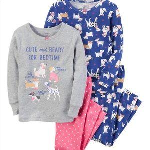 NWT Carter's toddler girl 4 piece pajama set